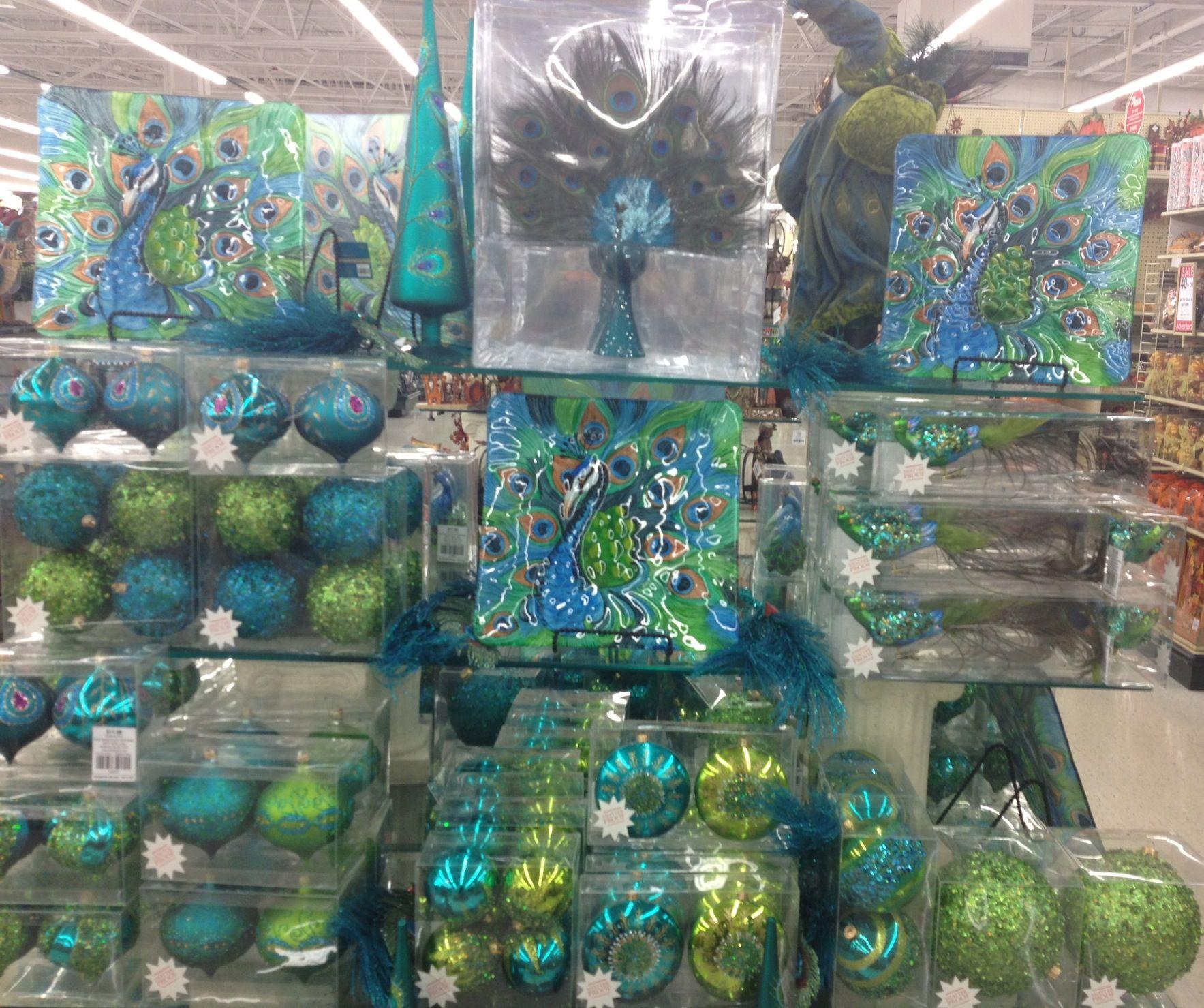 Hobby lobby glass ornaments - Peacock Holiday Decor Hobbylobby