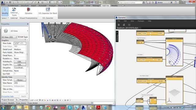 Enhanced Parametric Design with Dynamo Visual Programming for Revit