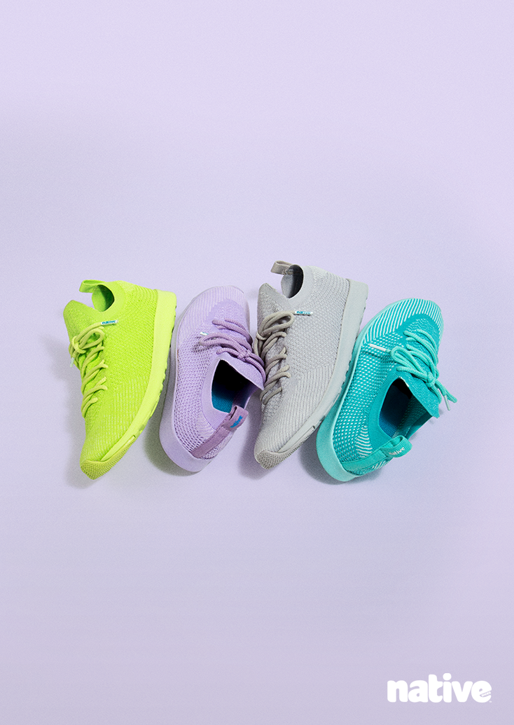 cd8f90a82f Meet the super sweet Native Shoes Mochi capsule  four Mercury Liteknit  colorways offering all the