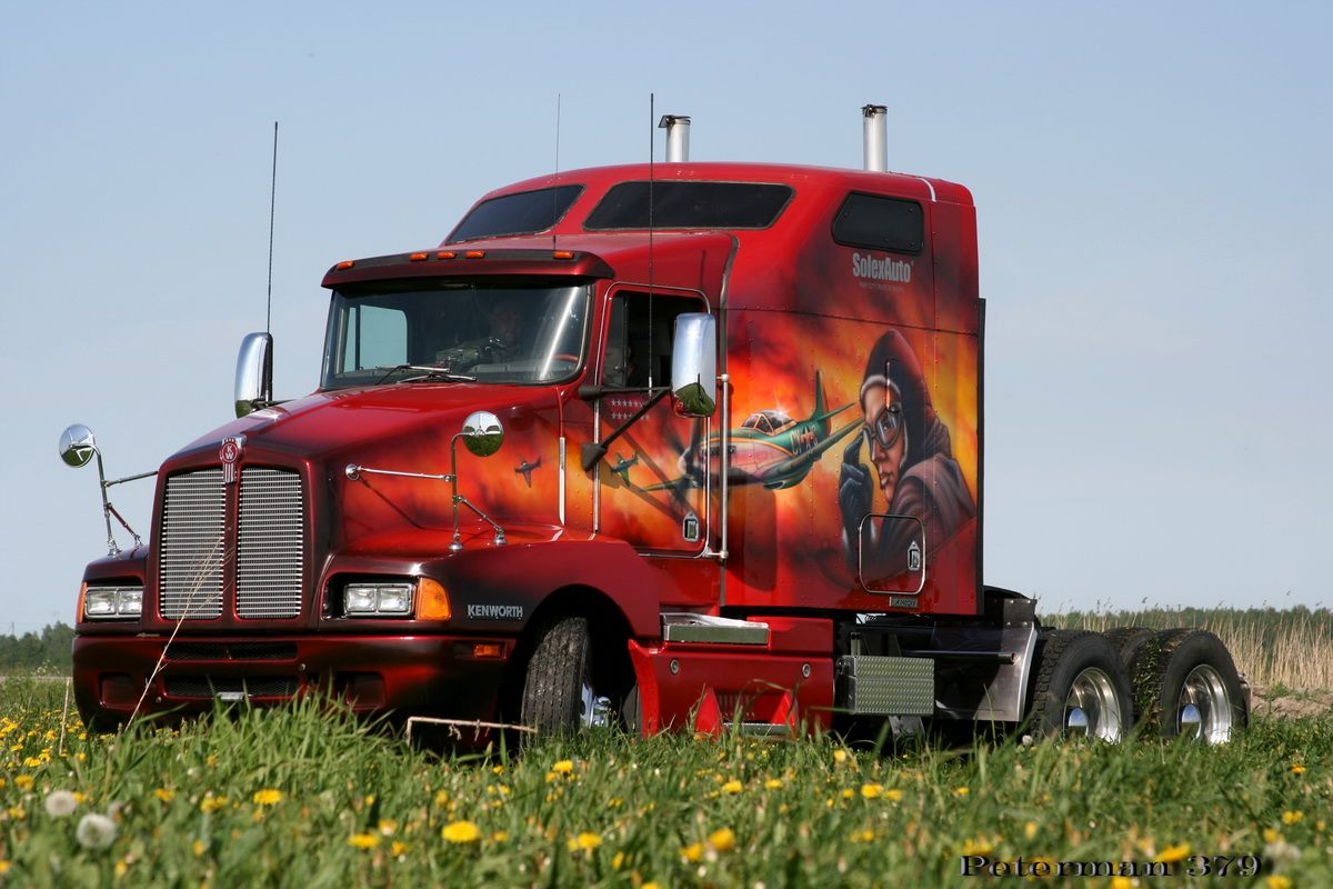 Cool Semi Truck Paint Jobs found these on another site