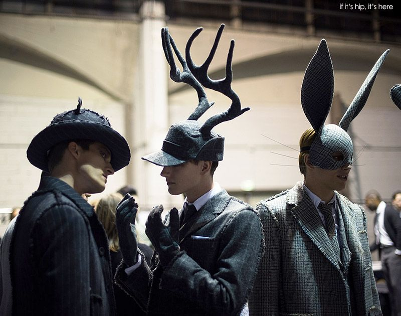 60cf288e225 Hats Off To Designer Thom Browne and Milliner Stephen Jones For Some  Seriously Strange Headwear.