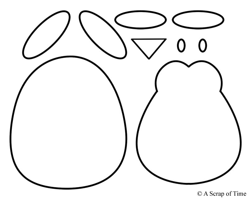 penguin template..number each piece in order..and draw a
