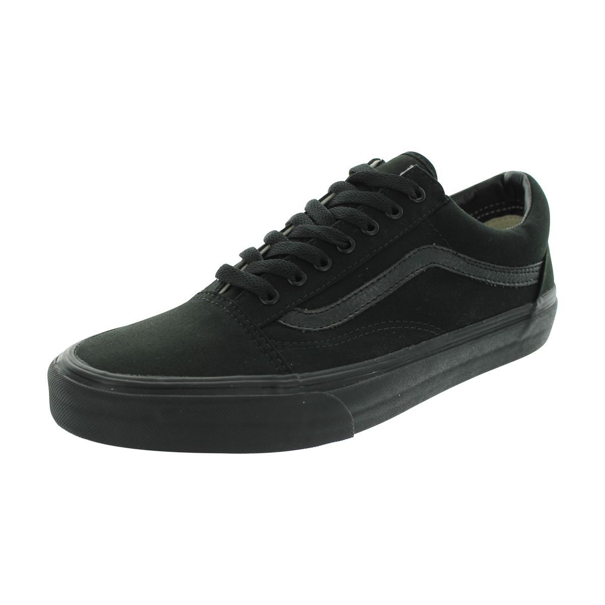 b25c040233 Vans Old Skool Black Canvas Skate Shoes (5)