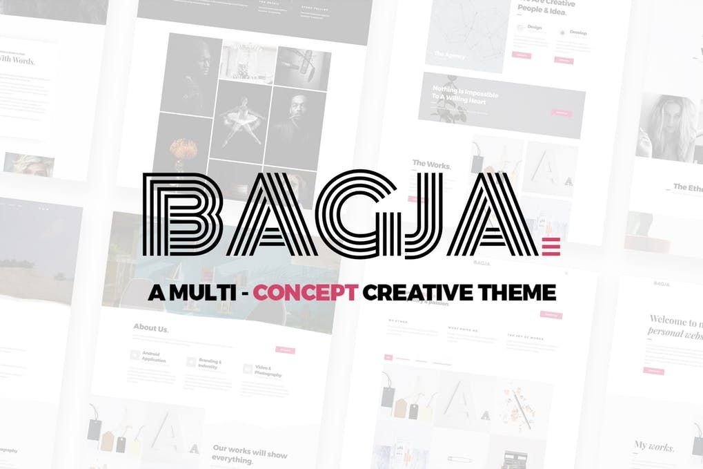 Cover Image For Bagja - Responsive Multi Concept & One Page