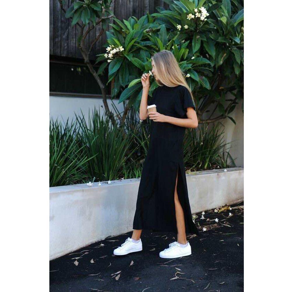 daa3c5cb4e Maxi T Shirt Dress Women Summer Beach Sexy Kim Kardashian Ukraine  Kyliejenner Linen Boho Long Black Bodycon Dresses Plus Size Price  16.99   fashionroc ...