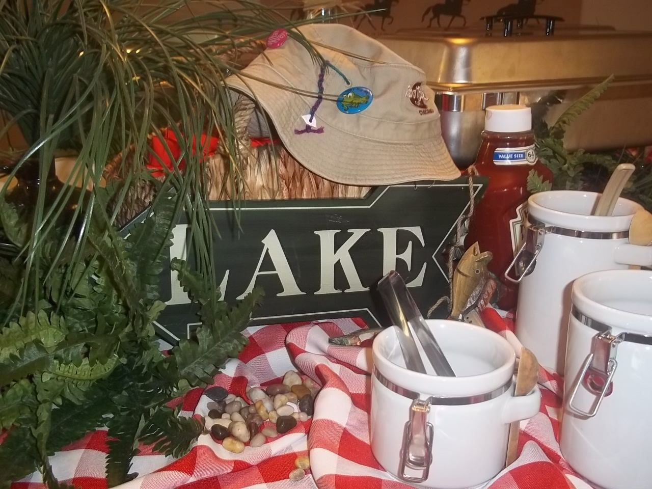 """Food Table Decor At """"fish Camp"""" Birthday Party"""