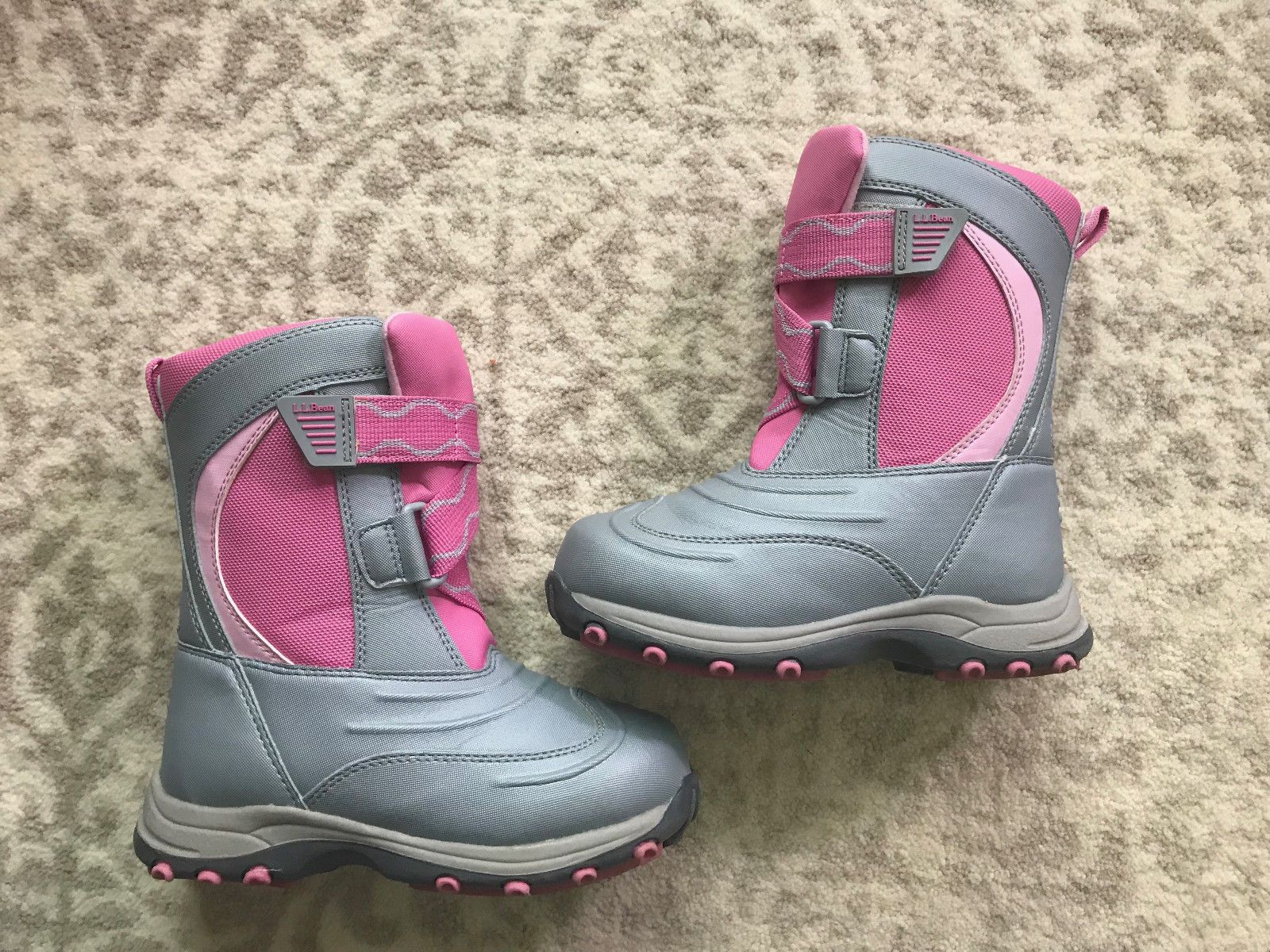 f0fcb2d042ab LL Bean Girls Kids Sz 11 Wild Orchid Pink Snow Tread Boots Excellent  Condition