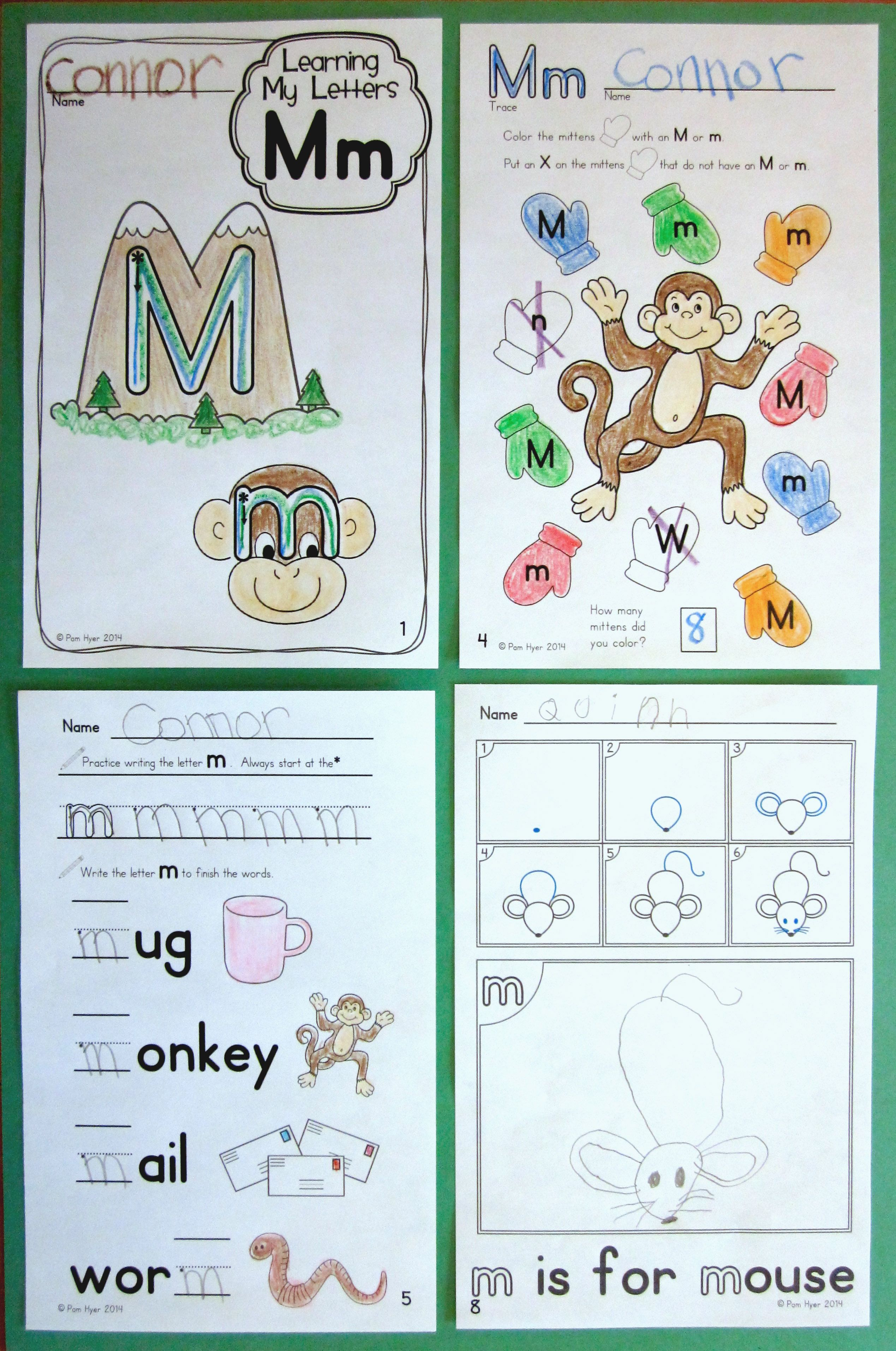 Alphabet Activities Learning My Letters Mm
