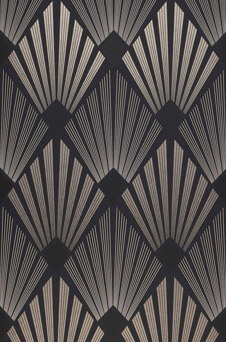 Wallpaper Pontinius Anthracite Art Deco Wallpaper Art Deco Pattern Art Deco Fashion