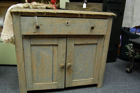 Primitive Shabby Cupboard with a Drawer for by apieceofmine, $265.00