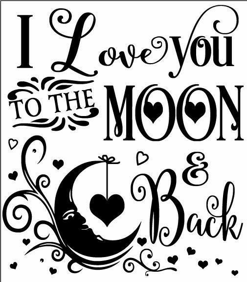Download I love you too the moon and back | Cricut projects vinyl ...