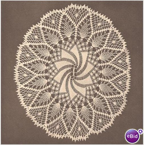 easy doily crochet patterns free | Crochet Doily Pattern Oval ...