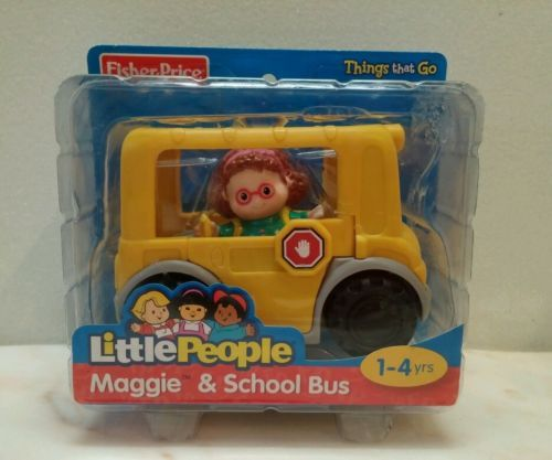 Fisher Price little people Maggie and School bus New in box boys ...