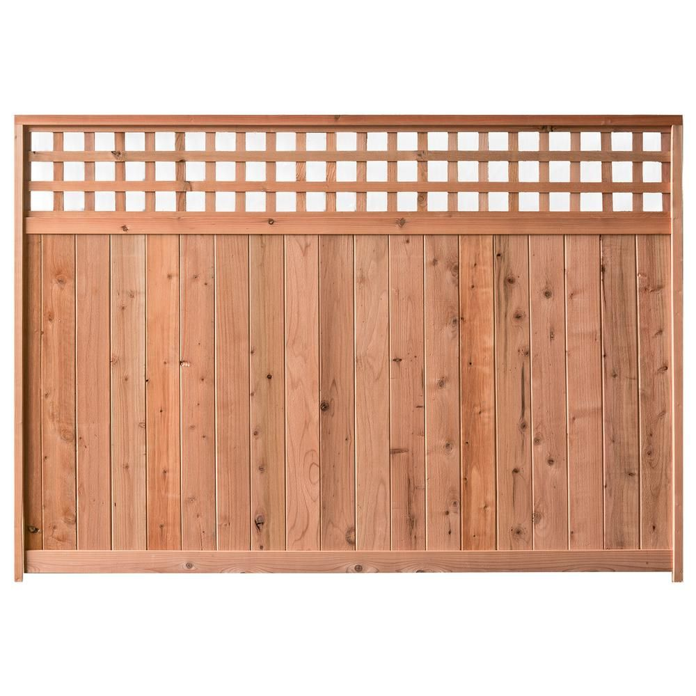 Signature Development 6 Ft H X 6 Ft W Western Red Cedar Checker