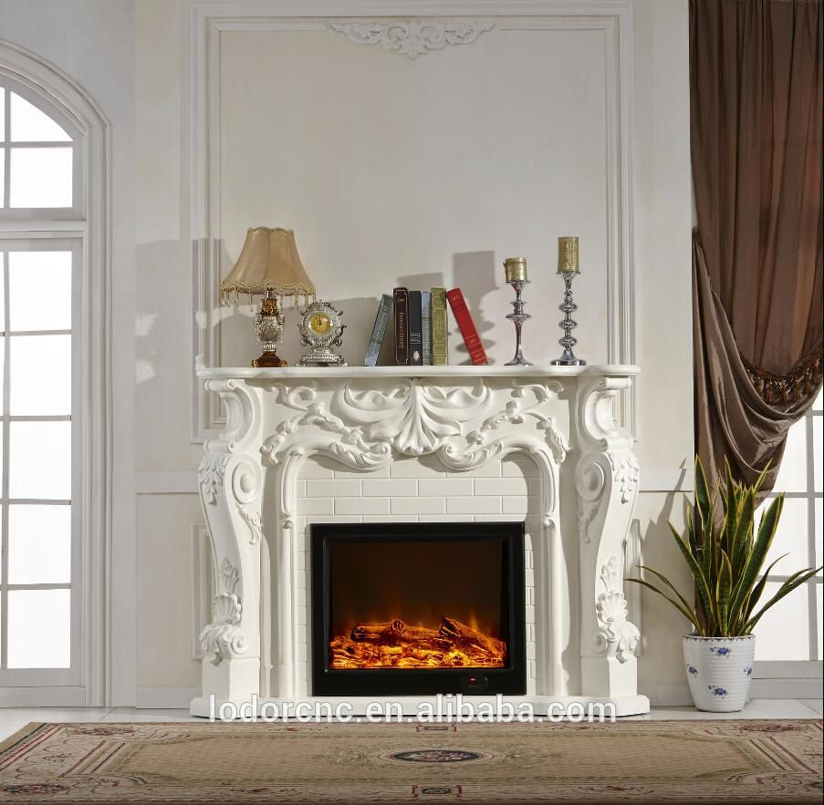 source french style decorative electric fireplace and mantel on m