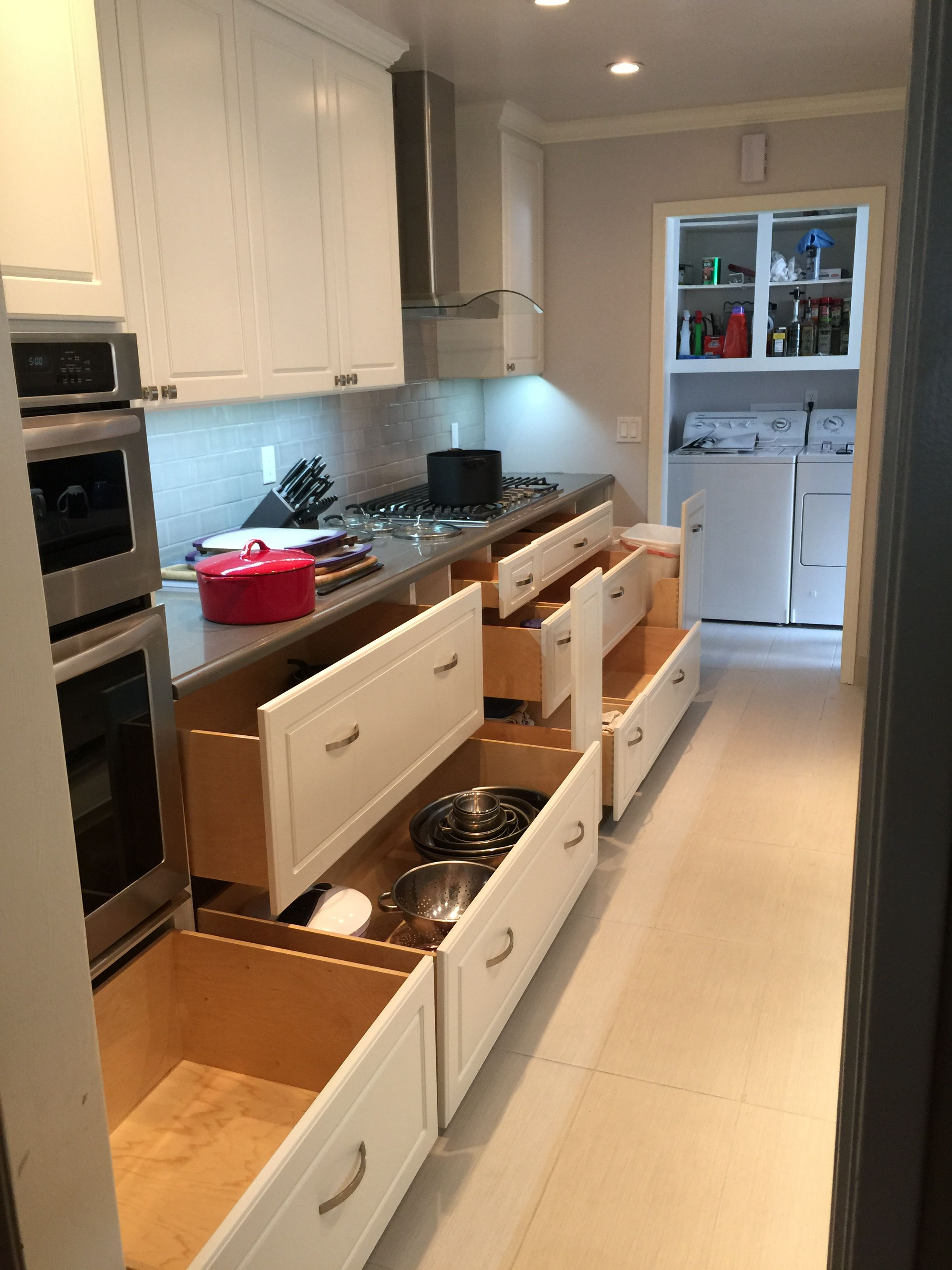 All Lower Drawers Opened Kitchen Kitchen Cabinets Home Decor