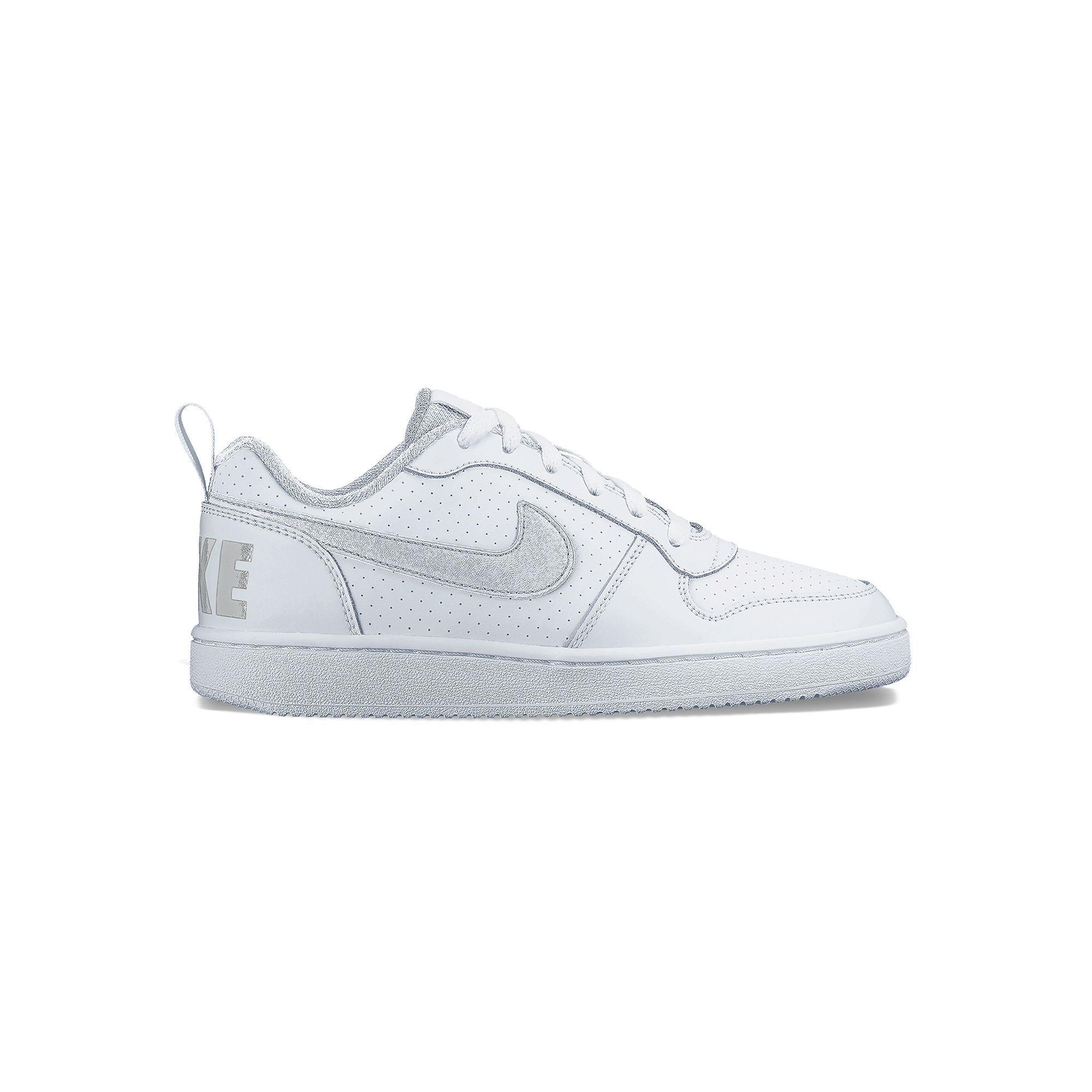 Nike Court Borough Low Grade School Boys' Shoes, Boy's, Size: 5, White