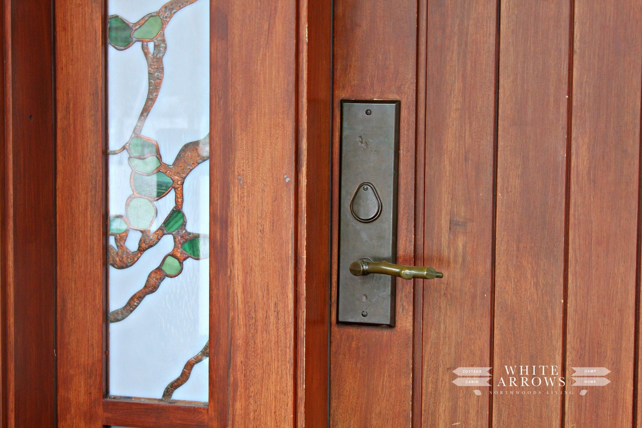 Winter Front Porch | Door handles, Front porches and Log cabins