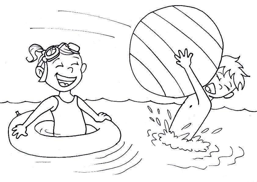 Summer Swimming Pool Coloring Pages Estate Attivit E Lavoretti Per Bambini Maestra Mary Summer Coloring Pages Free Coloring Pages Coloring Pages