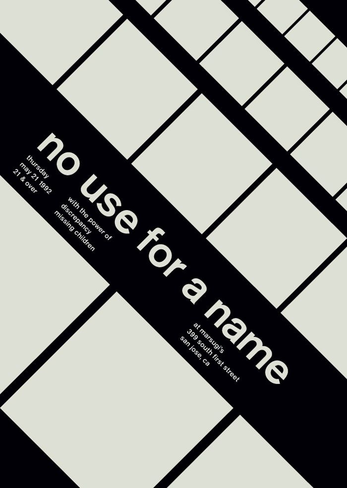 Interesting Posters Set In A Lowercase Akzidenz-Grotesk Medium By Mike Joyce