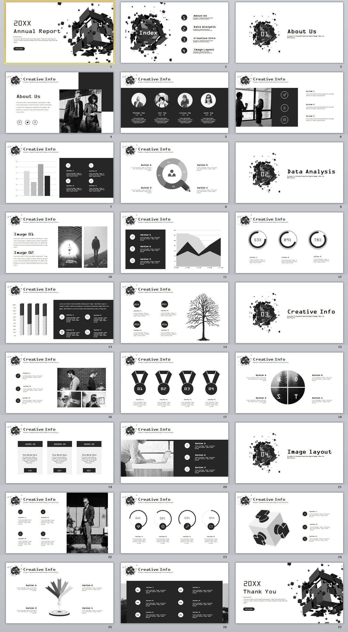 27+ year company chart report PowerPoint template on Behance ...