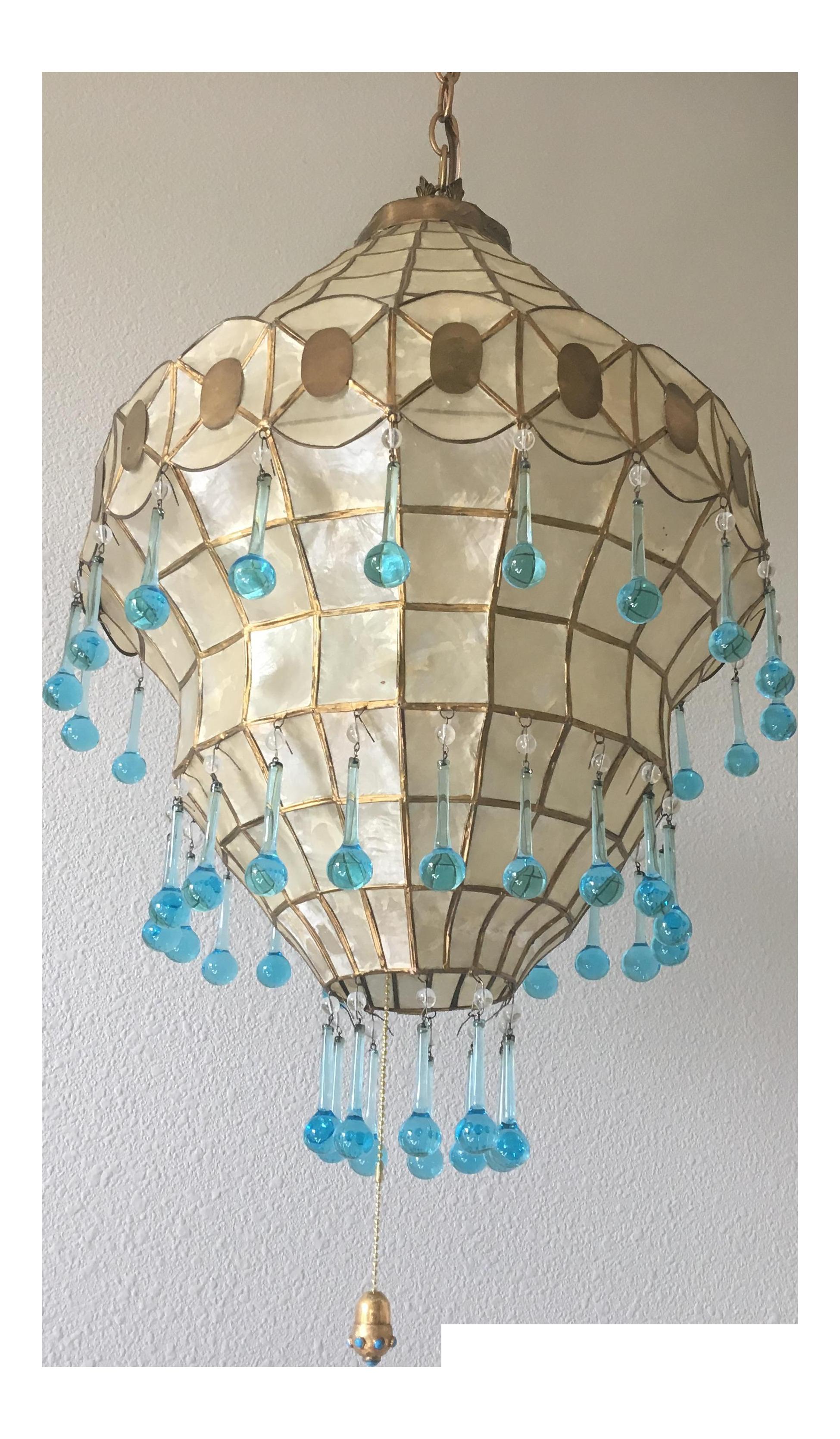 1950s vintage capiz shell chandelier pinterest capiz shell
