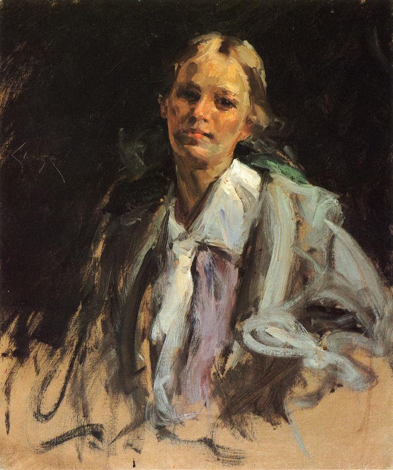 William Merritt Chase, Young Girl