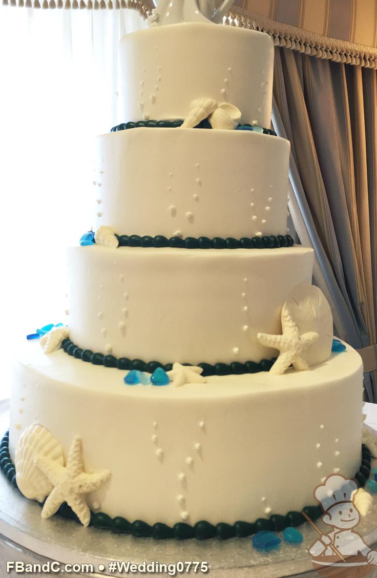 Design W 0775 | Butter Cream Wedding Cake | 14\