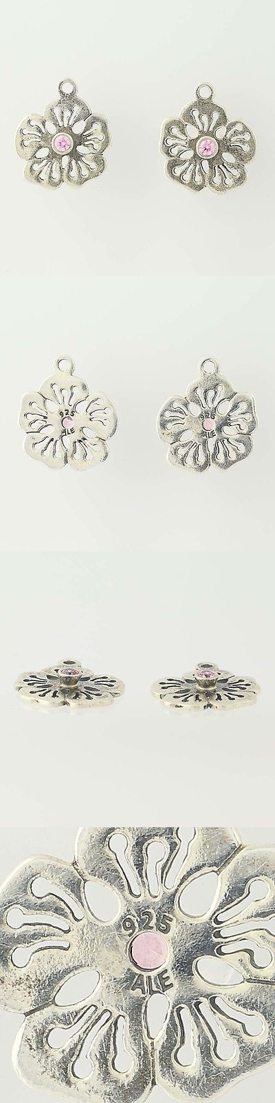 Other fine earrings 10984 new pandora flower earrings charms other fine earrings 10984 new pandora flower earrings charms 290623pcz pink cz hibiscus sterling silver mightylinksfo
