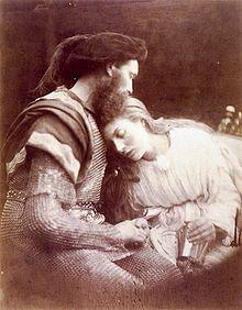 Lancillotto e Ginevra, fotografia del 1874