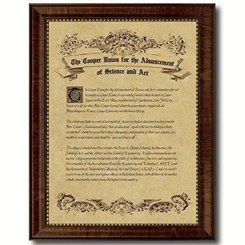The Cooper Union For The Advancement Of Science And Art Custom Made Frame  Pride Diploma Frame