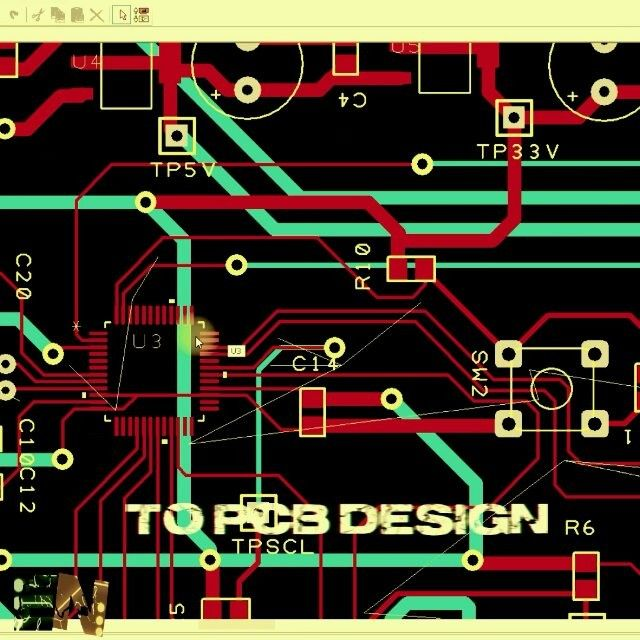 From an idea to schematics PCB design milled PCB an the