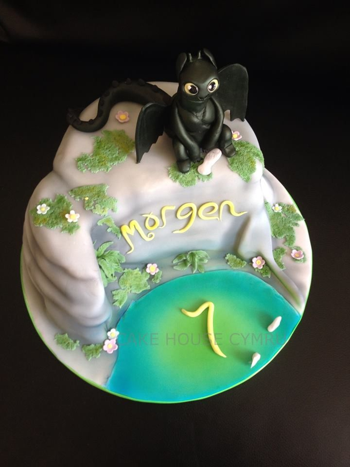 7th Birthday Cake Toothless How To Train Your Dragon Cake