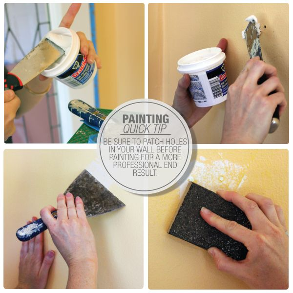 Be sure to patch holes in your wall before painting for a more ...