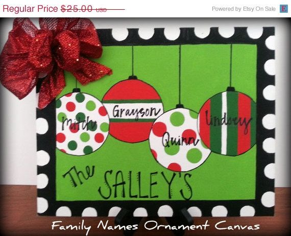 GRAND OPENING SALE Holiday/Christmas Personalized Family Name ...
