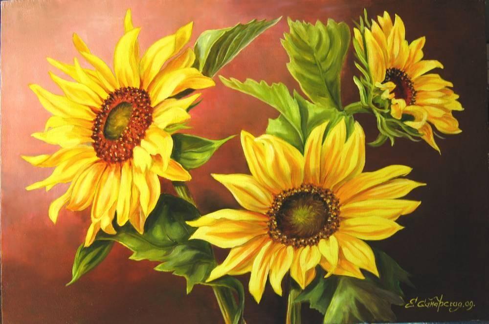 نقاشی زیبا گل با مداد رنگی