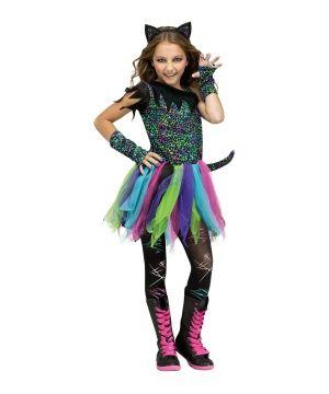 Wild Rainbow Cat Girls Costume - Girls Costume