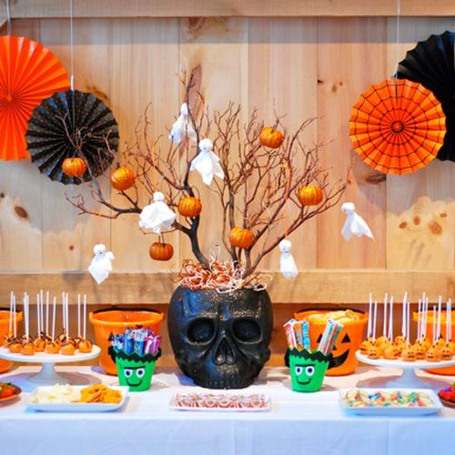 Decoraci n de mesa halloween halloween deco pinterest for Decoracion mesa halloween