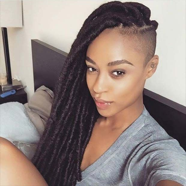 31 Faux Loc Styles For African American Women Braids With Shaved