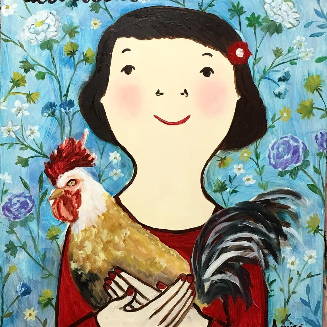 Happy chinese new year! The year of the rooster #soygallodetierra #evaarmisen #roosteryear #oilpainting
