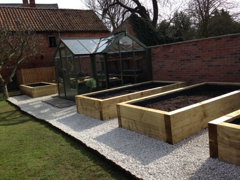 Nottingham railway sleeper raised beds   Vegetable garden ...