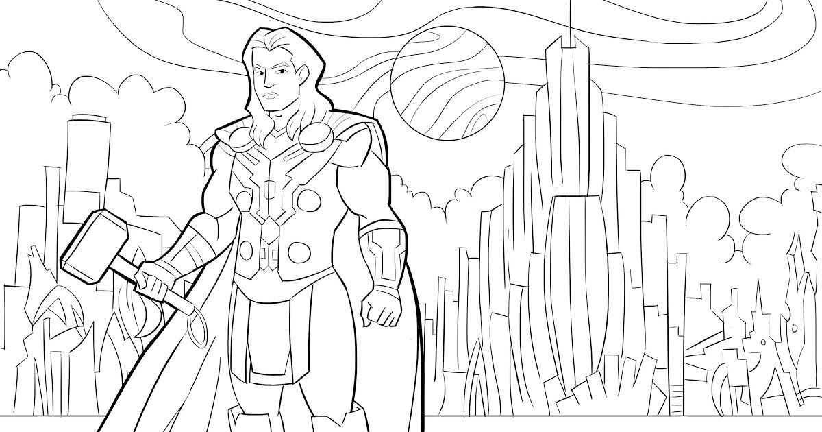 Thor Pdf Printable Coloring Page Avengers Coloring Pages Coloring Books Colouring For Chil In 2020 Avengers Coloring Avengers Coloring Pages Printable Coloring Pages