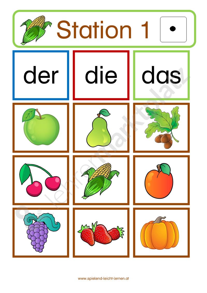 Stationsbetrieb HERBST – 1. Klasse fächerübergreifend - Grundschule ...
