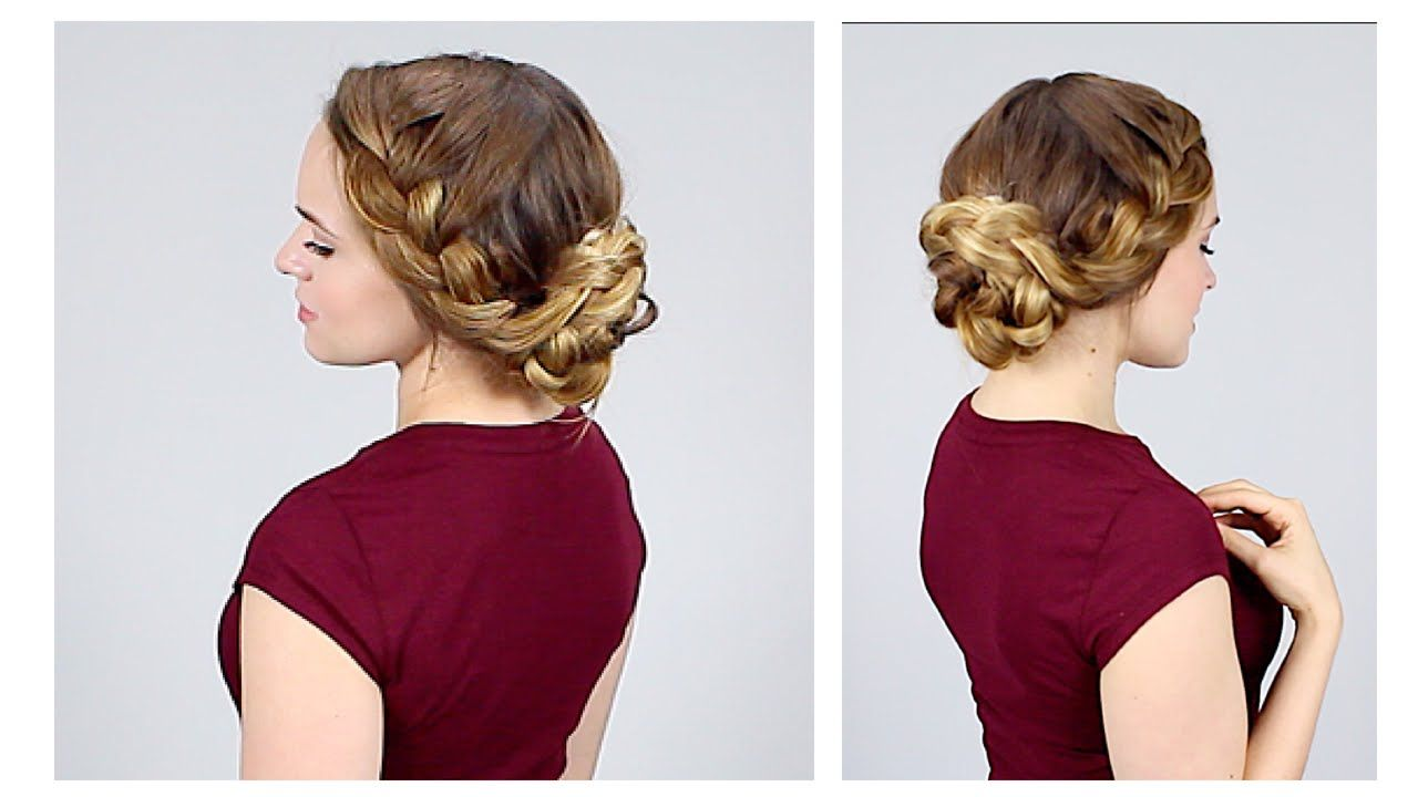 Quick braided updo for back to school love kayley hair