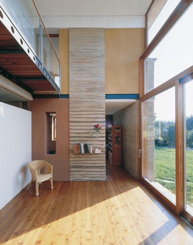 Wohnhaus M Loam Clay Earth Martin Rauch Vorarlberg Rammed Earth Glass House House