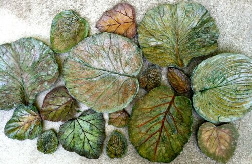 Leaf Ladies | Sand Cast Concrete Leaf Art for Your Home and Garden!