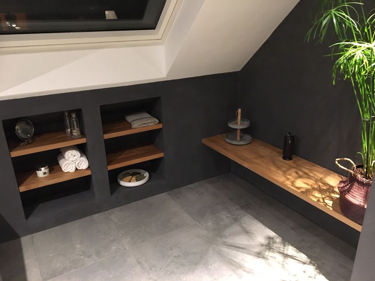 Badkamer slaapkamer in badkamer zolder