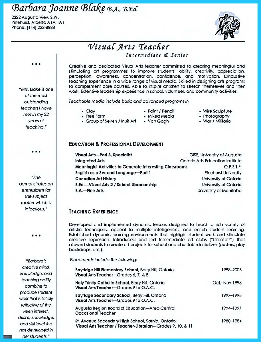 if you are seeking a job as an art teacher one of the