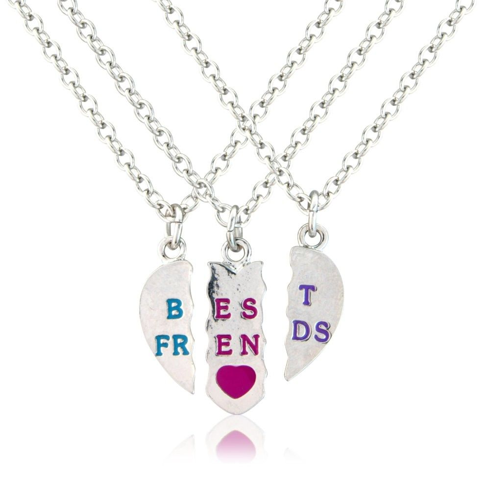 Best Friends Necklace For 3