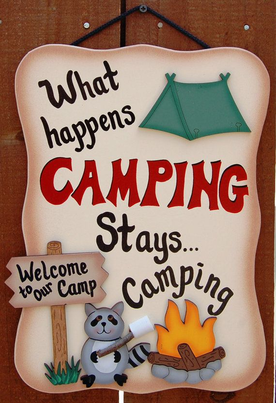 Funny Camping Sign What Happens Camping Camping signs